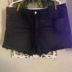 Charlotte Russe black denim shorts nwot size 18